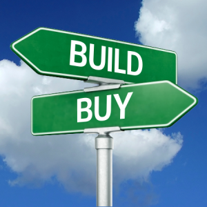 build or buy Making the decision to buy or build can be influenced in a number of ways, and one of the biggest mind-changing factors is the status of the market there's a really low inventory right now that's a fact.